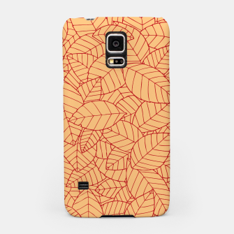 Thumbnail image of Red Leaves Pattern Samsung Case, Live Heroes