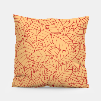 Thumbnail image of Red Leaves Pattern Pillow, Live Heroes