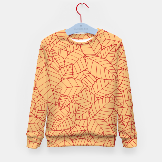 Thumbnail image of Red Leaves Pattern Kid's sweater, Live Heroes