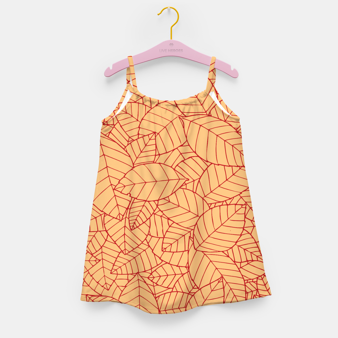 Image of Red Leaves Pattern Girl's dress - Live Heroes