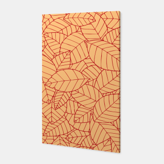Thumbnail image of Red Leaves Pattern Canvas, Live Heroes