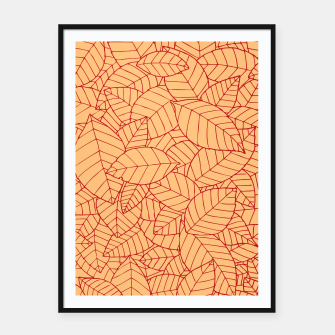 Thumbnail image of Red Leaves Pattern Framed poster, Live Heroes