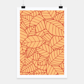 Thumbnail image of Red Leaves Pattern Poster, Live Heroes