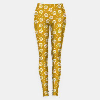 Miniatur Floral Fan | Daisy Flowers Pattern Design Leggings, Live Heroes