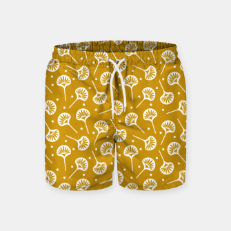 Miniatur Floral Fan | Daisy Flowers Pattern Design Swim Shorts, Live Heroes