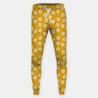 Miniatur Floral Fan | Daisy Flowers Pattern Design Sweatpants, Live Heroes