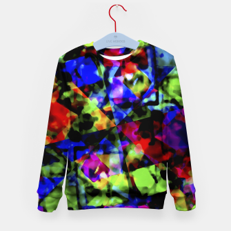 Thumbnail image of Dark Multicolored Abstract Print Kid's sweater, Live Heroes