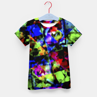 Thumbnail image of Dark Multicolored Abstract Print Kid's t-shirt, Live Heroes