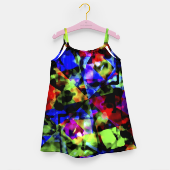 Thumbnail image of Dark Multicolored Abstract Print Girl's dress, Live Heroes
