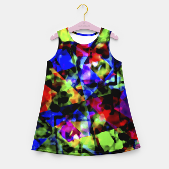 Thumbnail image of Dark Multicolored Abstract Print Girl's summer dress, Live Heroes
