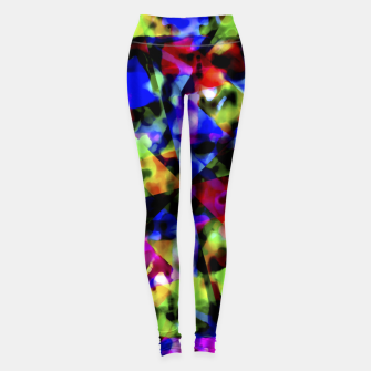 Thumbnail image of Dark Multicolored Abstract Print Leggings, Live Heroes