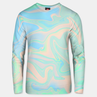 Thumbnail image of Liquid faux holographic iridescent texture Unisex sweater, Live Heroes