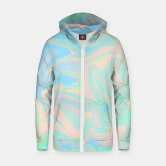 Thumbnail image of Liquid faux holographic iridescent texture Zip up hoodie, Live Heroes