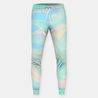 Thumbnail image of Liquid faux holographic iridescent texture Sweatpants, Live Heroes