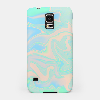 Thumbnail image of Liquid faux holographic iridescent texture Samsung Case, Live Heroes