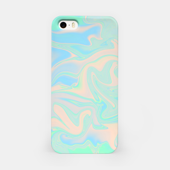 Thumbnail image of Liquid faux holographic iridescent texture iPhone Case, Live Heroes