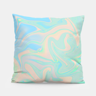 Thumbnail image of Liquid faux holographic iridescent texture Pillow, Live Heroes