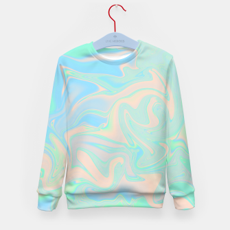 Thumbnail image of Liquid faux holographic iridescent texture Kid's sweater, Live Heroes