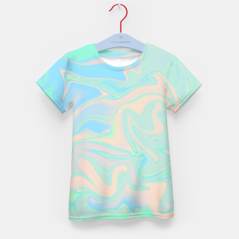 Thumbnail image of Liquid faux holographic iridescent texture Kid's t-shirt, Live Heroes