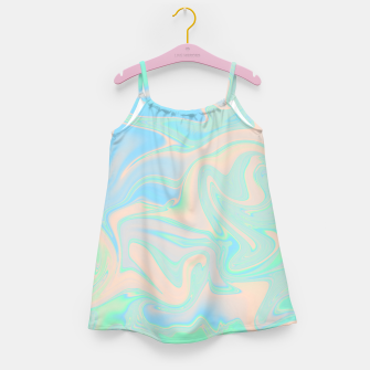 Thumbnail image of Liquid faux holographic iridescent texture Girl's dress, Live Heroes