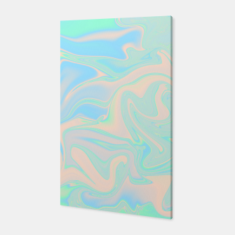 Thumbnail image of Liquid faux holographic iridescent texture Canvas, Live Heroes