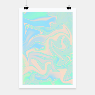 Thumbnail image of Liquid faux holographic iridescent texture Poster, Live Heroes