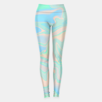 Thumbnail image of Liquid faux holographic iridescent texture Leggings, Live Heroes