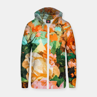 Thumbnail image of Blush Garden Zip up hoodie, Live Heroes