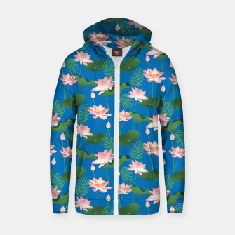Thumbnail image of Lotus Love Zip up hoodie, Live Heroes