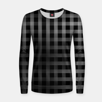 Thumbnail image of Silver lines or stripes on black Women sweater, Live Heroes