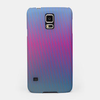 Thumbnail image of Pink line abstract art with hot pink and blue gradient Samsung Case, Live Heroes