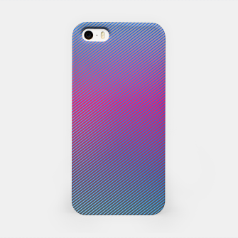 Thumbnail image of Pink line abstract art with hot pink and blue gradient iPhone Case, Live Heroes
