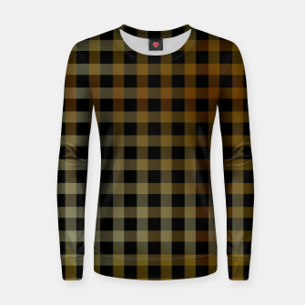 Thumbnail image of Gold stripes on black Women sweater, Live Heroes