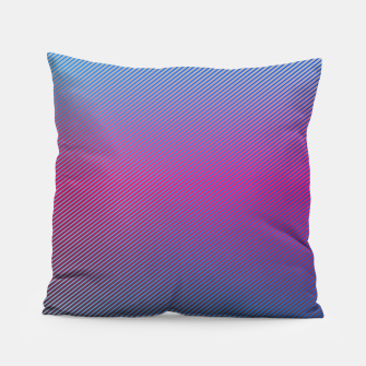 Thumbnail image of Pink line abstract art with hot pink and blue gradient Pillow, Live Heroes