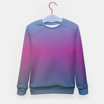 Thumbnail image of Pink line abstract art with hot pink and blue gradient Kid's sweater, Live Heroes