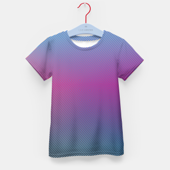 Thumbnail image of Pink line abstract art with hot pink and blue gradient Kid's t-shirt, Live Heroes