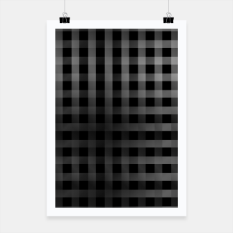Miniaturka Silver lines or stripes on black Poster, Live Heroes