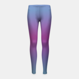 Thumbnail image of Pink line abstract art with hot pink and blue gradient Girl's leggings, Live Heroes