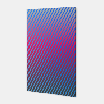 Thumbnail image of Pink line abstract art with hot pink and blue gradient Canvas, Live Heroes