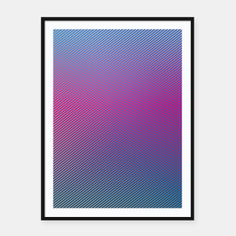Thumbnail image of Pink line abstract art with hot pink and blue gradient Framed poster, Live Heroes