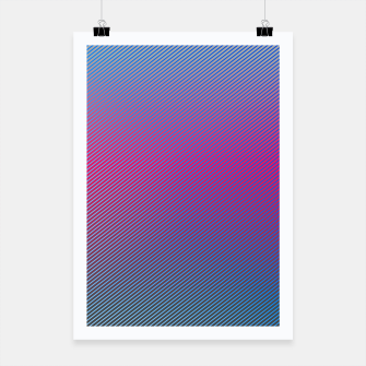 Thumbnail image of Pink line abstract art with hot pink and blue gradient Poster, Live Heroes