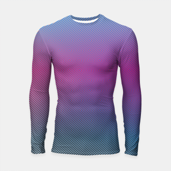 Thumbnail image of Pink line abstract art with hot pink and blue gradient Longsleeve rashguard , Live Heroes