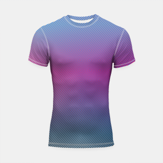 Thumbnail image of Pink line abstract art with hot pink and blue gradient Shortsleeve rashguard, Live Heroes