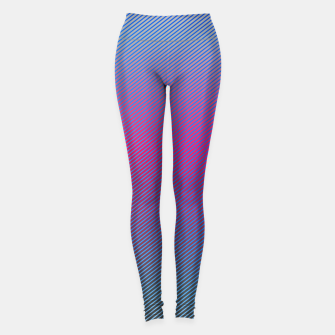 Thumbnail image of Pink line abstract art with hot pink and blue gradient Leggings, Live Heroes