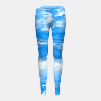 Thumbnail image of stormy sea waves reacwb Girl's leggings, Live Heroes