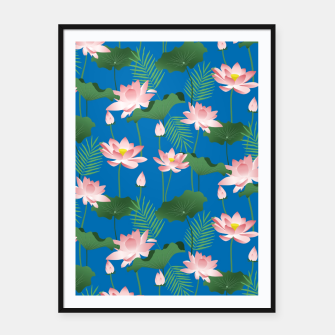 Thumbnail image of Lotus Love Framed poster, Live Heroes