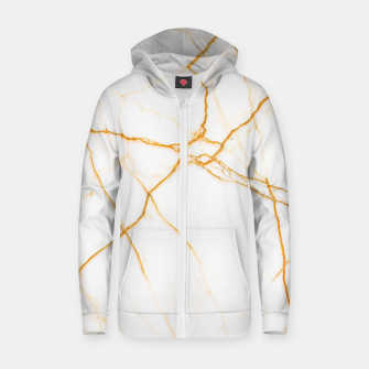 Thumbnail image of Gold and Marble Zip up hoodie, Live Heroes