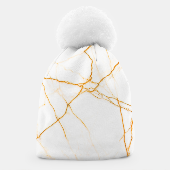 Thumbnail image of Gold and Marble Beanie, Live Heroes