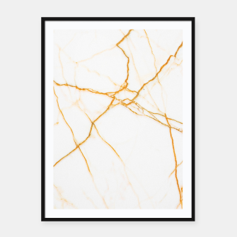 Thumbnail image of Gold and Marble Framed poster, Live Heroes