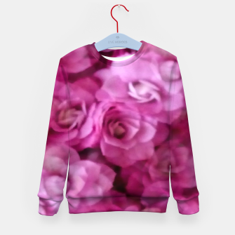 Thumbnail image of happy florals  giving  peace and great feelings Kid's sweater, Live Heroes